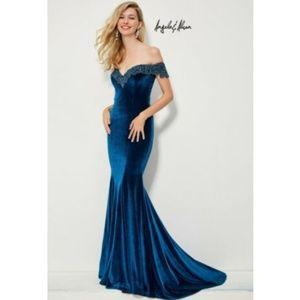 Angela & Alison Womens Size 8 Evening Dress Blue